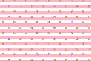 Sensfun Pink White Stripe Background Silk Gold Spots Dot Photography Backdrops Newborn Photo Studio Photo Props 7x5ft