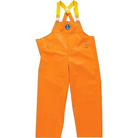 水産マリンレリー 胸付ズボン Mサイズ レスキューオレンジ 漁師のための専用合羽