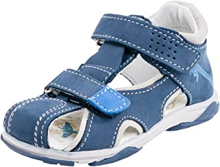 Kotofey Boys Dark Blue Sandal Genuine Leather Shoes for Kids - Orthopedic Shoes with Arch Support
