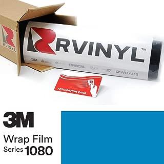 3M 1080 M67 Matte Riviera Blue 5ft x 1ft W/Application Card Vinyl Vehicle Car Wrap Film Sheet Roll