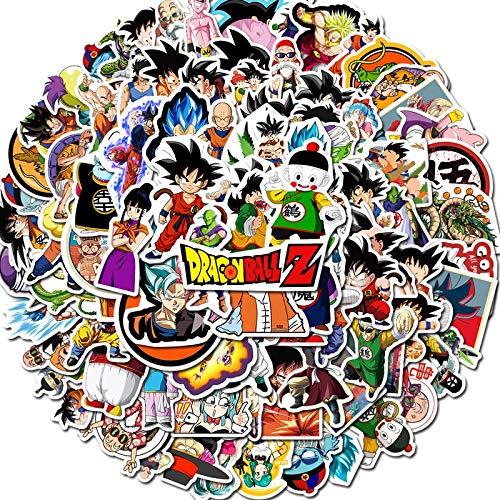 PMSMT 100 Uds Pegatinas de Bola de dragón de Dibujos Animados de Anime para niños calcomanías Bonitas Pegatinas para portátil teléfono Maleta Guitarra Nevera Coche