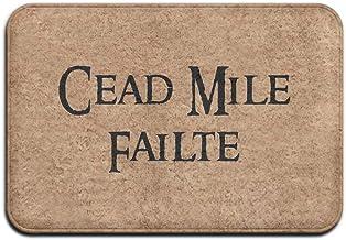 Cead Mile Failte Outdoor Rubber Doormat For Front Door Duty Outside Shoes Scraper Floor Door Mat For Porch Garage High Tra...
