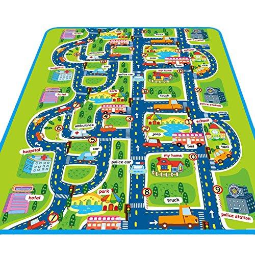 Alfombra infantil Juego Alfombra, ideal para jugar con coches y juguetes Jugar, aprender y divertirse, niños pädago Estratégica vial de Juego (, para dormitorio parte habitaciones parte Safe Area