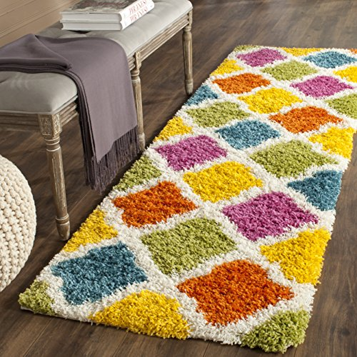 Safavieh Kids Shag Collection SGK562A Ivory and Multi Area Rug (2'3