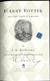 JK Rowling Signed Autographed Harry Potter Deathly Hallows Book 1st Edition - JSA Certified