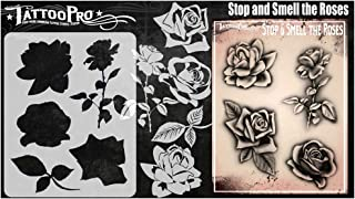 Tattoo Pro-stencils - Stop en ruik de rozen, Mylar Airbrush-tatoeagesjabloon, herbruikbare schminksjabloon