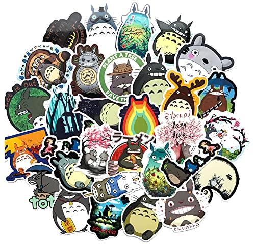 GSNY Dibujos Animados mi Vecino Totoro Pegatina Impermeable Pegatina para Maleta Pegatina para Maleta con Personalidad monopatín Coche eléctrico Funda con Ruedas para Guitarra 64 Hojas