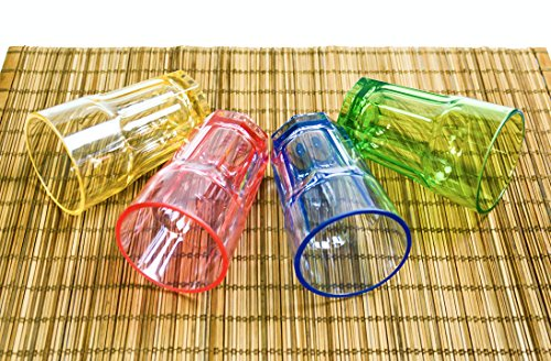 Colored Plastic Cups Tumblers Acrylic Water Drinking Glasses for Kids 1