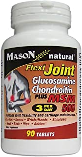 Mason Natural Flexi-Joint Glucosamine Chondroitin PLUS MSM 500 Mg, 90-Count Bottle