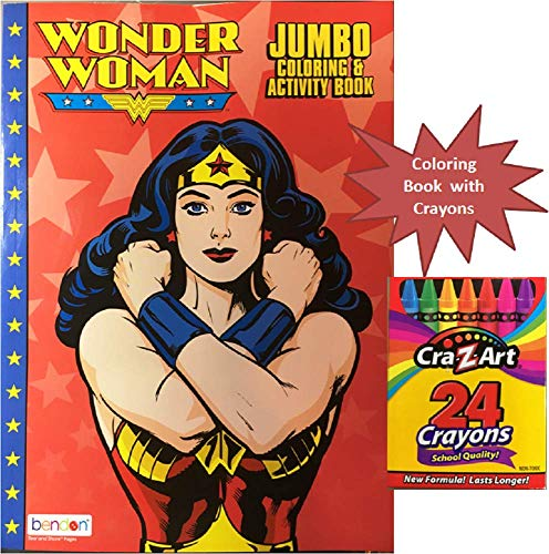 Party Deal Wonder Woman Jumbo Coloring & Activity Book