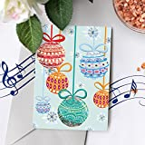 Singing Christmas Card   Christmas Card With Ornament Design, Recordable Christmas Card, Voice Recordable Christmas Card 00007 (120 Second Recordable)