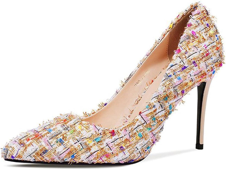 JIANXIN Damen Damen Frühling Und Sommer Sexy Stiletto Heels OL Pumps Und Stiletto Heels. (Farbe   Aprikose, Größe   38)  zurückhaltende Luxus-Konnotation