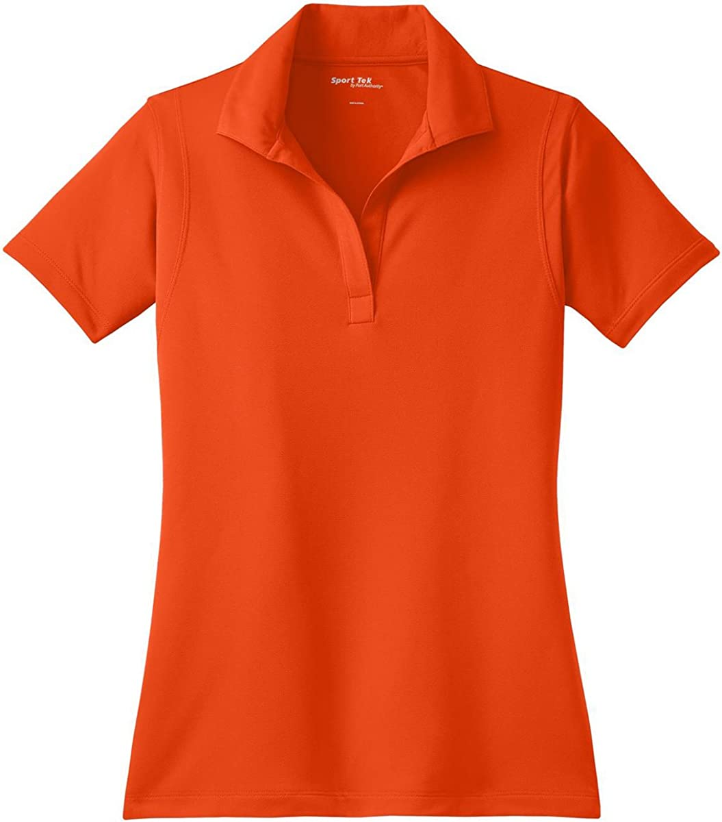 Sport-Tek Ladies Micropique Sport-Wick Sport Shirt, S, Deep Orange