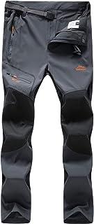 DAFENP Pantalones Trekking Mujer Impermeable Pantalones de Escalada Senderismo Alpinismo Ligero Secado Rápido Transpirable Aire Libre