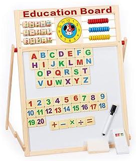 Coxeer Kids Educational Board Learning Board Developmental Double Side Magnetic Educational Toy