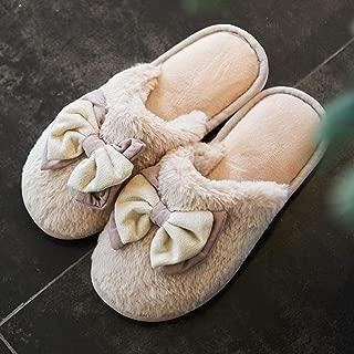 JLHBM Zapatillas De Casa En Casa De Otoño E Invierno Zapatillas De Felpa De Interior Suave Y Esponjosa Dormitorio Interior Zapatillas De Casa con Forro De Espuma De Memoria