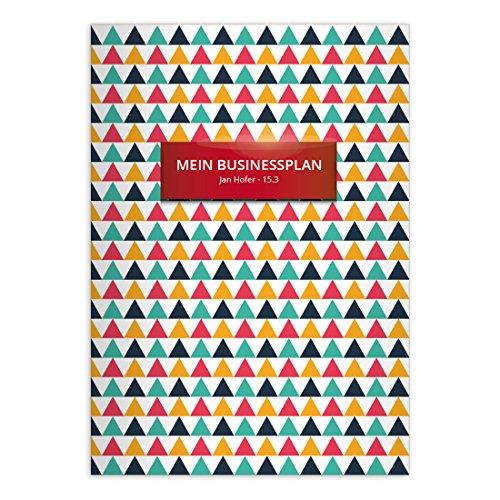 Kartenkaufrausch Grafische Designer notitieboekje DIN A4 schoolschrift, schrijfschrift met driehoekige liniatuur 20 (blanco boekje) modern 16 Hefte mit Namen Driehoek