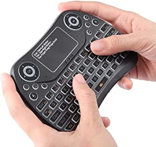 Wdezhi Mini PCS913 2.4GHz Mini Smart Colorful Backlit Rechargeable Wireless Gaming Keyboard for Tablet/PC/Android TV Case,...