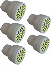 SGJFZD LED GU10 LED Bulbs 20W Halogen Replacement No Dimmable 3w 3000K/6000K 200-240V LED 5-Pack (Color : Cool Whtie)