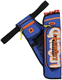 Legend Archery Quiver Graffiti 3 Tubes Arrow Holder - Durable Hip Quiver with Multiple-Pockets and Belt Up to 42""