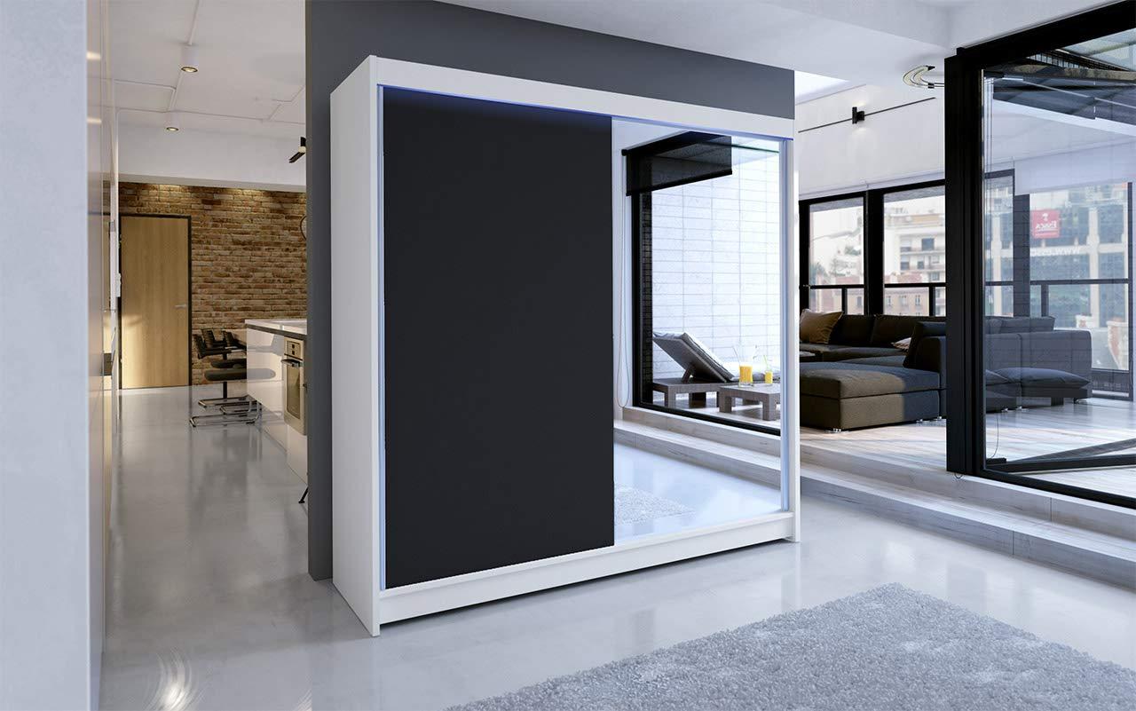 Mirjan24 Talin I - Armario con Puertas correderas y Espejo (180 cm de Ancho, para dormitorios, vestíbulos): Amazon.es: Juguetes y juegos