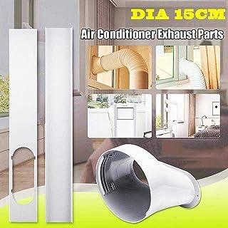 PVC Blanco Medidas Ajustables 67-131 cm Cubierta de Ventana KLARSTEIN Window Set Sellado de Ventana para Aire Acondicionado port/átil