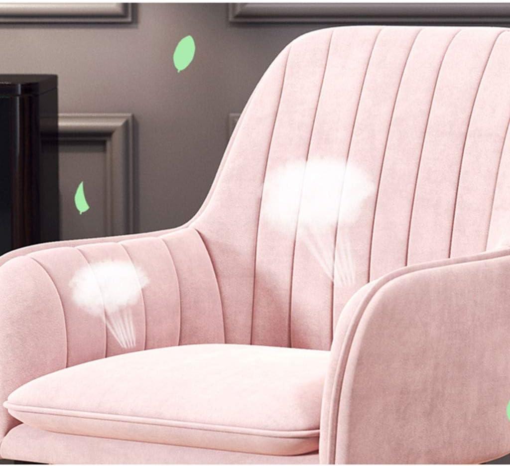 HEJINXL Chaises Salle Manger Chaise Comptoir Cuisine Chaise D'étude Informatique Domicile Fauteuil Pieds Métal Velours Avec Dossier Chaise Réception (Color : C) D