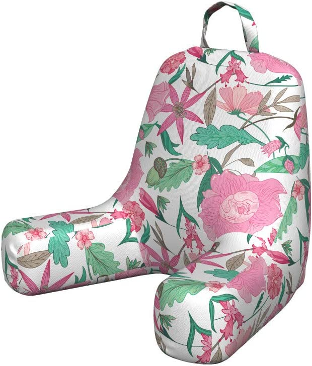 Ambesonne Floral Bedrest with Max 44% OFF Back Max 41% OFF Romantic Continuous Pocket P