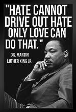 Martin Luther King Jr MLK Love Famous Motivational Inspirational Quote Black Wood Framed Art Poster 14x20