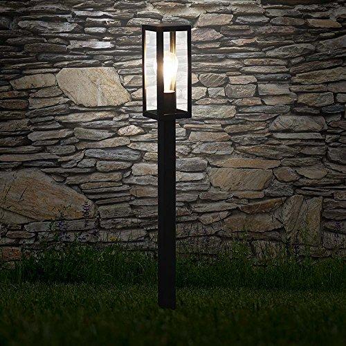 s.LUCE Poller Aussen-Standleuchte Chalet 80cm Schwarz Pollerlampe Aussen-Stehleuchte Pollereuchte Einfahrt-Lampe