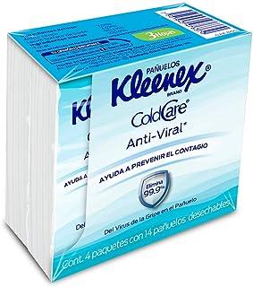 Kleenex Cold Care Pañuelos Faciales Anti-viral, Sellapack Con 14 Piezas De Doble Hoja