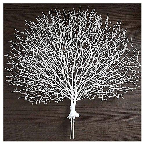 Majome Ramo de Coral Artificial Ramas Falsas árboles Secos Plantas Planta Blanca casa decoración de la Boda