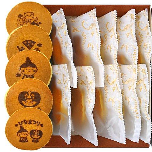 ひなまつり 雛祭 どら焼き もじどら 10個入り 小豆餡 イラスト入りギフト