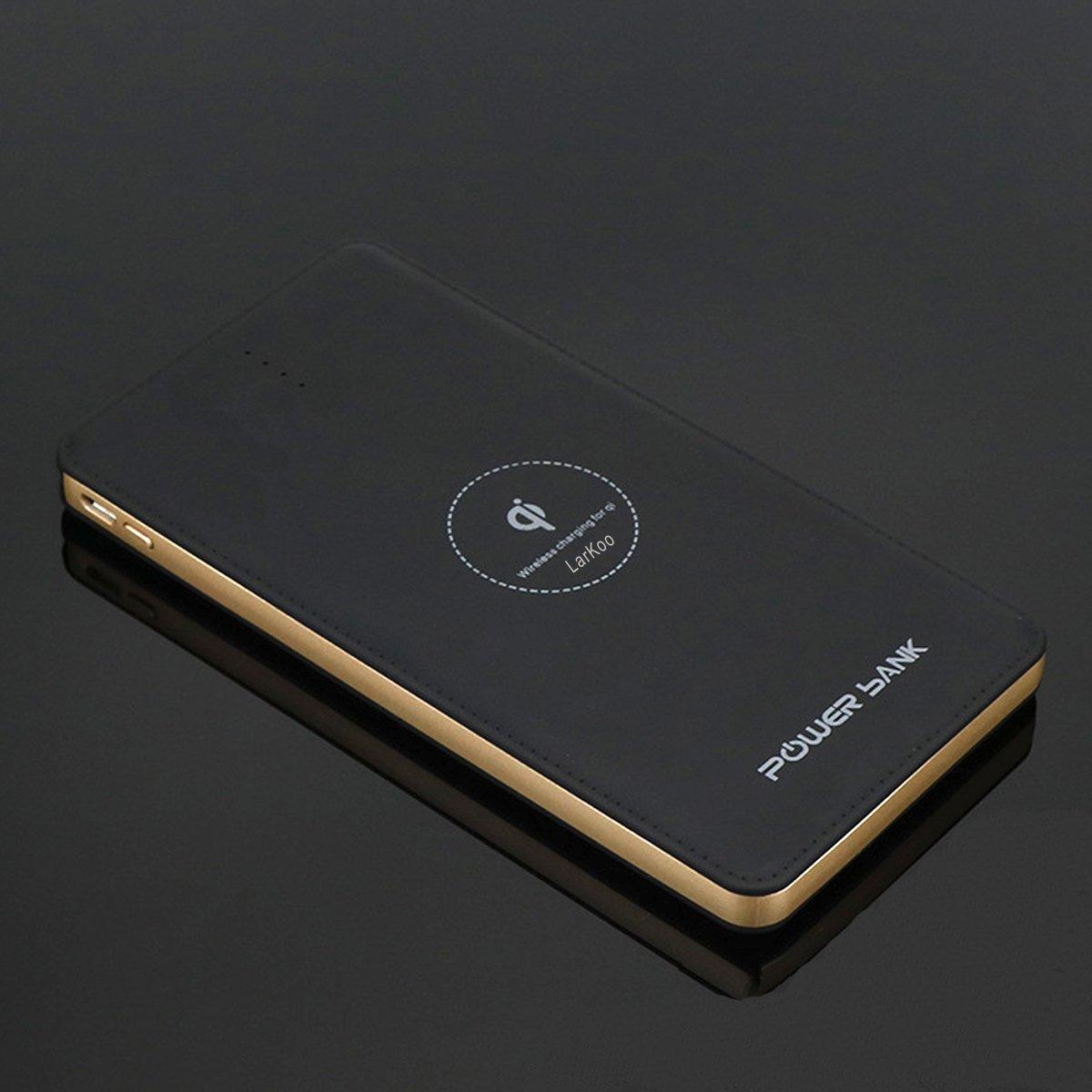LarKoo - Cargador inalámbrico portátil de 20000 mAh, cargador 3 en 1 con puerto USB tipo C,