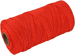 Braided Nylon Mason Line #18 - SGT KNOTS - Moisture, Oil, Acid, Rot Resistant - Twine String Masonry, Marine, DIY Projects, Crafting, Commercial, Gardening use (250 feet - Fluorescent Orange)