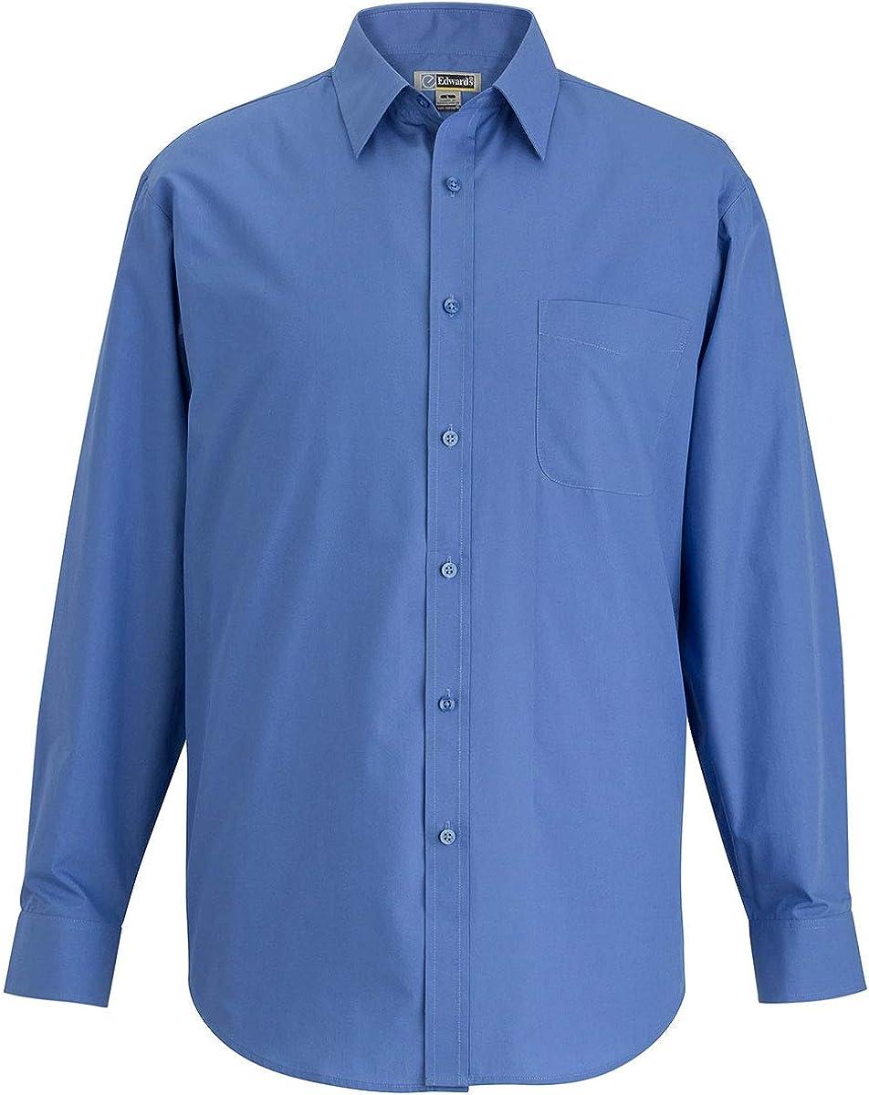 Edwards Mens Essential Broadcloth Shirt Long Sleeve