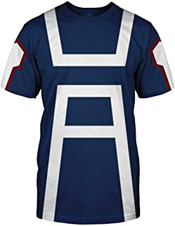 Boku No Hero Academia My Hero Academia T-Shirt Izuku Midoriya Bakugou Katsuki Cosplay Costume Training Suit Unisex Tshirt