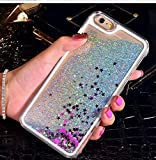 KC Floating Liquid Glitter Star Transparent Hard Back Cover for Apple iPhone 6