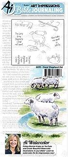 مطبوعات فنية من الكتاب المقدس مجلة الكتاب المقدس أختام مطاطية مائية - Good Shepherd