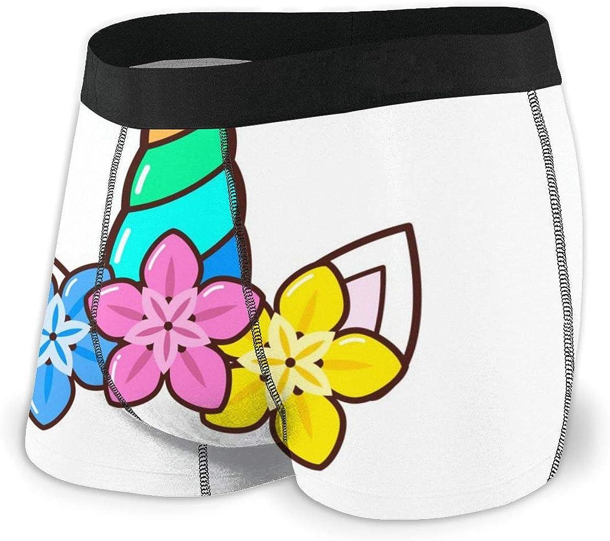 Randolph Wordsworth Mens Boxer Briefs Colorful Cartoon Unicon Breathable Underwear
