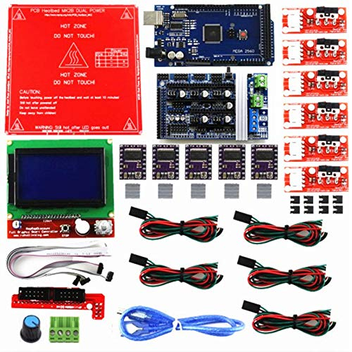 DTOYZ Reprap Ramps 1.6 Kit With m e g a 2560 R3 + Heatbed MK2B + 12864 LCD Controller + DRV8825 +Mechanical Switch +Cables For 3D Printer