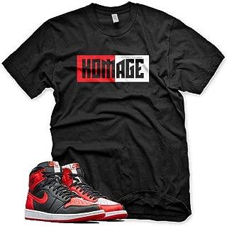 New HOMAGE T Shirt for Jordan 1 Homage to Home NRG Bred Chicago Bull