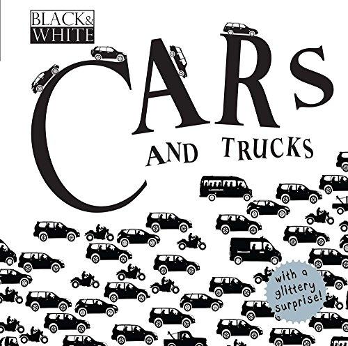 Black & White. Cars And Trucks