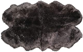 Natural Luxury Soft Premium Quality Durable Thick & Lush New Zealand Sheepskin Wool Fur Area Rug, 4 ft x 6 ft, Chocolate