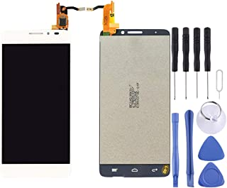 HEGUANGWEI LCD Screen and Digitizer Full Assembly for Alcatel One Touch Idol X / 6040 / 6040A(Black) Cell Phone LCD Screen Replacement Parts (Color : White)