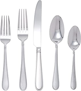 Gourmet Basics by Mikasa Westfield Frost 45-Piece Stainless Steel Flaware Set with Serving Utensil Set, Service for 8