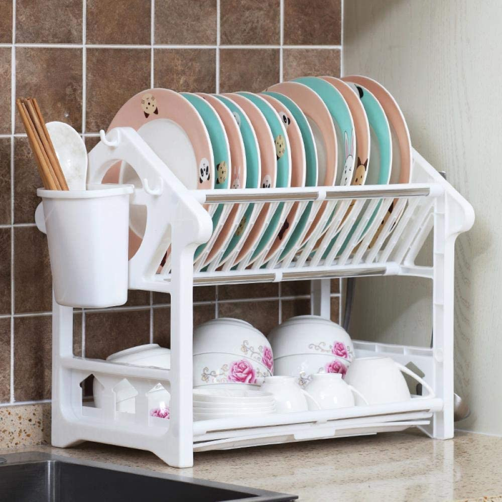 Dual Louisville-Jefferson County Mall Layers Dish Drying Rack Drainer Shelf Or Kitchen Collection Cheap bargain