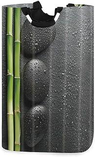 COFEIYISI Grand Organiser Paniers pour Vêtements Stockage,Spa Zen Garden Thème Pierre Et Bambou Noir,Pliable Sac à Linge,P...