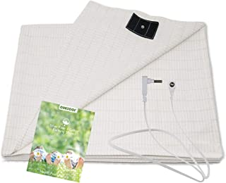 Grounding Sheet with Grounding Cord - Materials Cotton and Silver Fiber Improve Sleep Natural Wellness (27 * 52 inch)