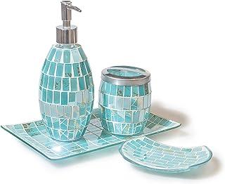 Amazon Co Uk Turquoise Bathroom Accessories